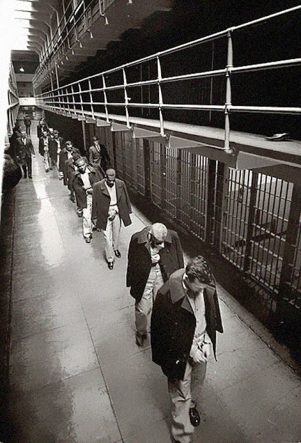 Последние заключенные тюрьмы Алькатрас, 1963 г.