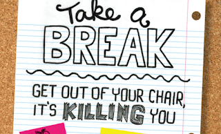 take a break, get out of your chair, it's killing you, infographic