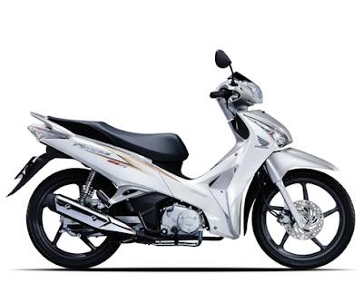 Honda Future 2012 - Trắng Bạc Đen