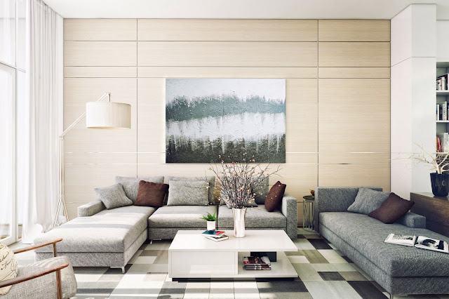 Attractive Contemporary Living Room Design