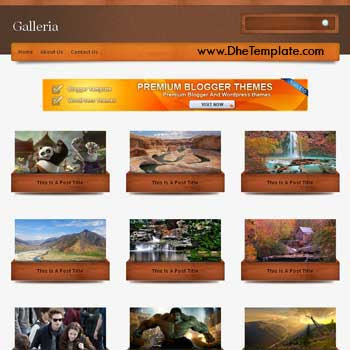 Galleria template blogger. convert wordpress theme to blogger template.wordpress to blogspot template. photography blogger template