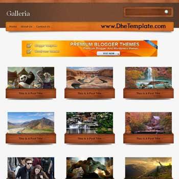 Galleria template blogger. convert wordpress theme to blogger template.wordpress to blogspot template. photography blogger template