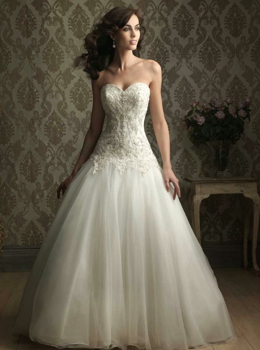Wedding Dress with Sweetheart Neckline Photos Concepts Ideas