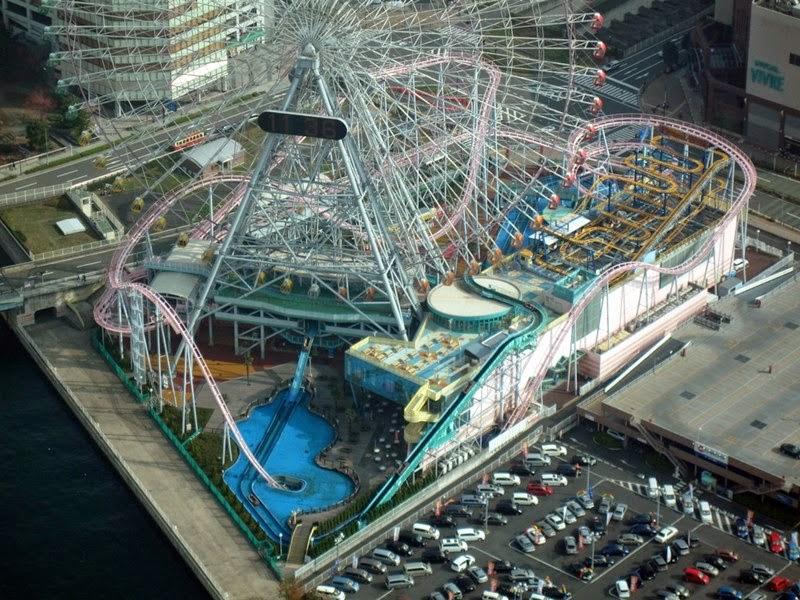 Vanish Roller Coaster   Cosmo Land Amusement Park, Yokohama, Japan