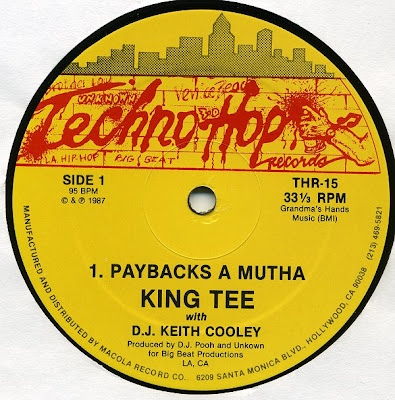 King Tee & D.J. Keith Cooley – Payback's A Mutha (VLS) (1987) (192 kbps)