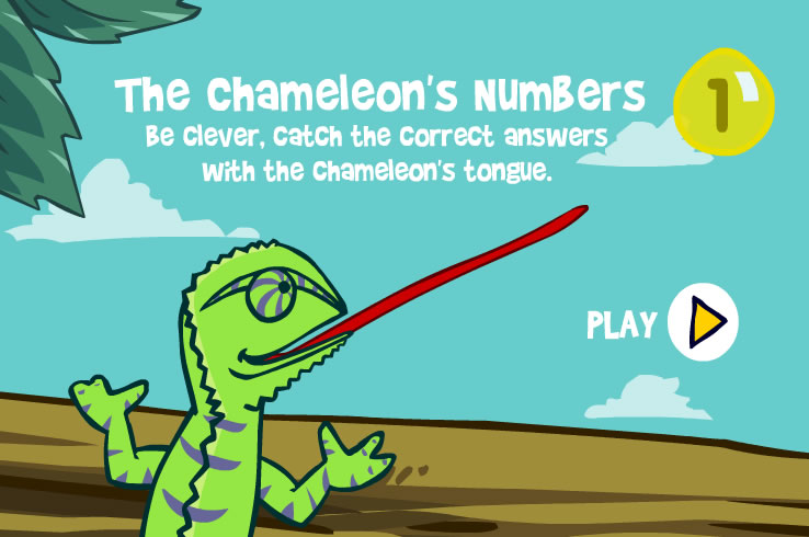Kids Game : Chameleon Numbers