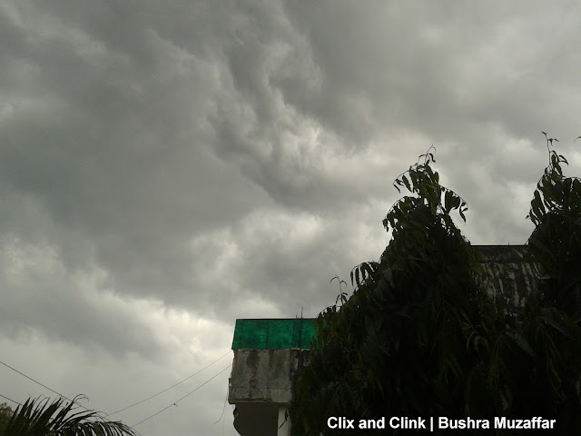 Overcast skies in Noida neighborhood