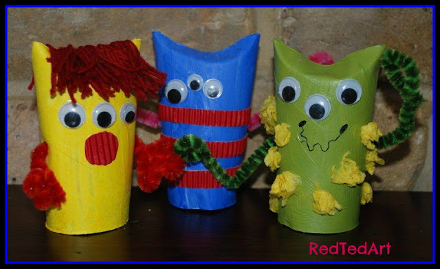 photo of: Monsters from Upcycled Materials from RedTedArt  (via Monster RoundUP from RainbowsWithinReach) 