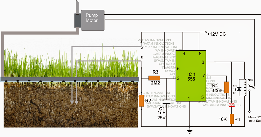Simple Automatic Plant Watering Circuit Electronic