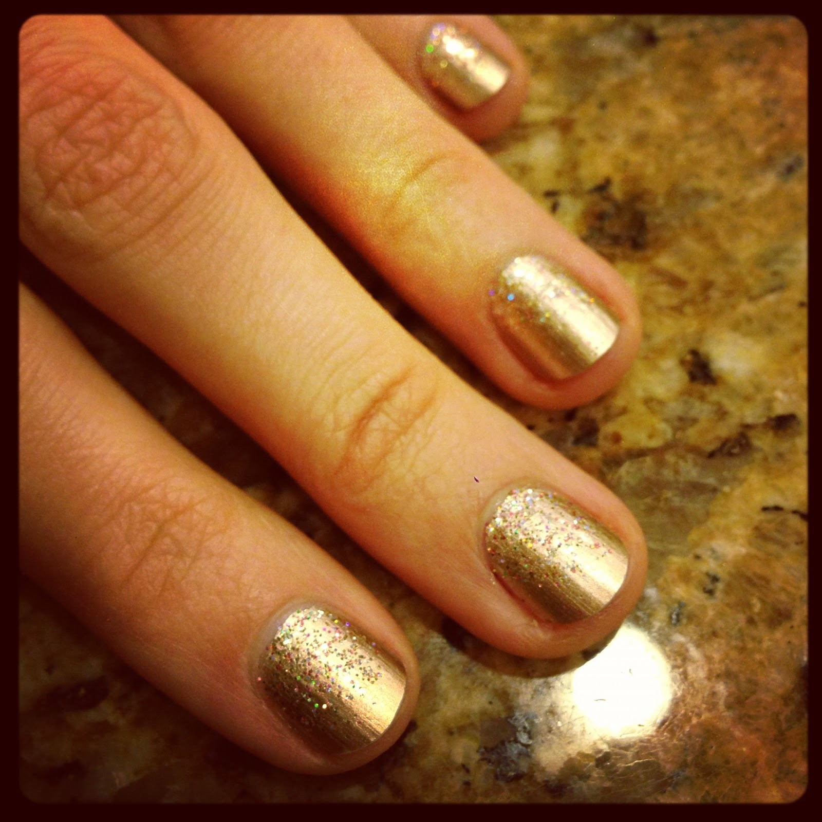 Essie Gold Glitter Essie Good as Gold With Gold