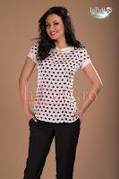 Bluza roz pal cu inimioare negre (MBG)