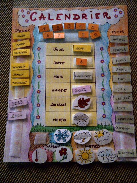 L 39 cole de la vie chez idrissou faire son calendrier - Activite manuelle a faire a la maison ...