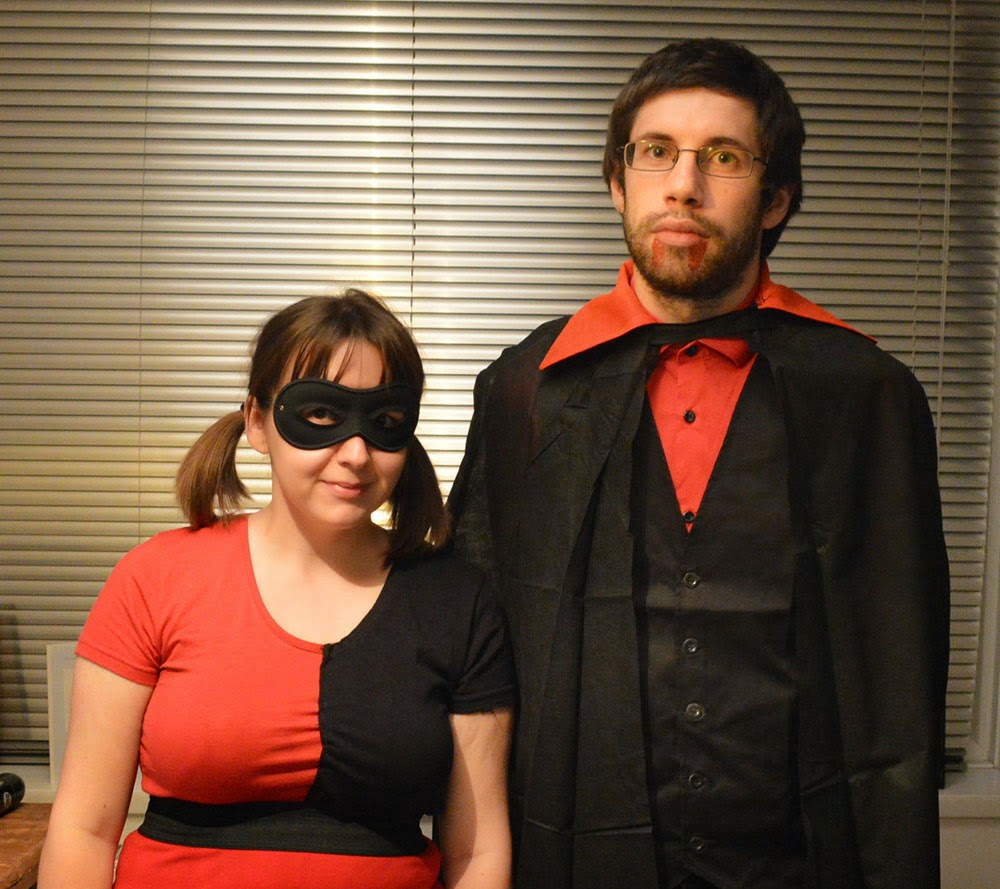 Harley Quinn DIY costume and vampire