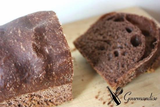 Gourmandise Pão de cacau com fermentação natural
