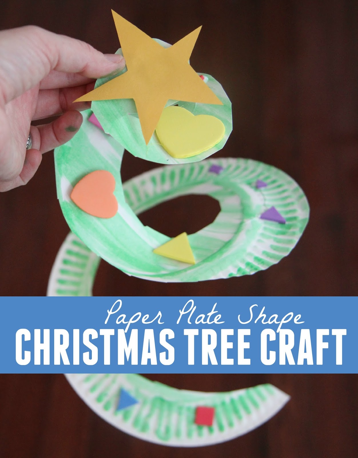 Toddler Approved!: Paper Plate Shape Christmas Tree Craft