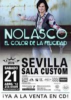 Nolasco en Sevilla, actuación el 21 de abril de 2012 en la Sala Custom (antigua Sala Q)