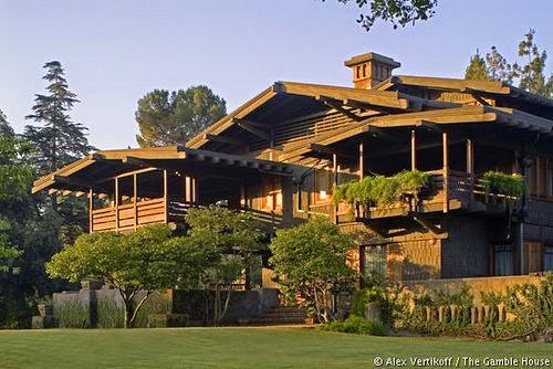Ganble House vista en perspectiva 1908 Pasadena