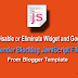 How to Disable Widgets and Google+ Script Files from Blogger?