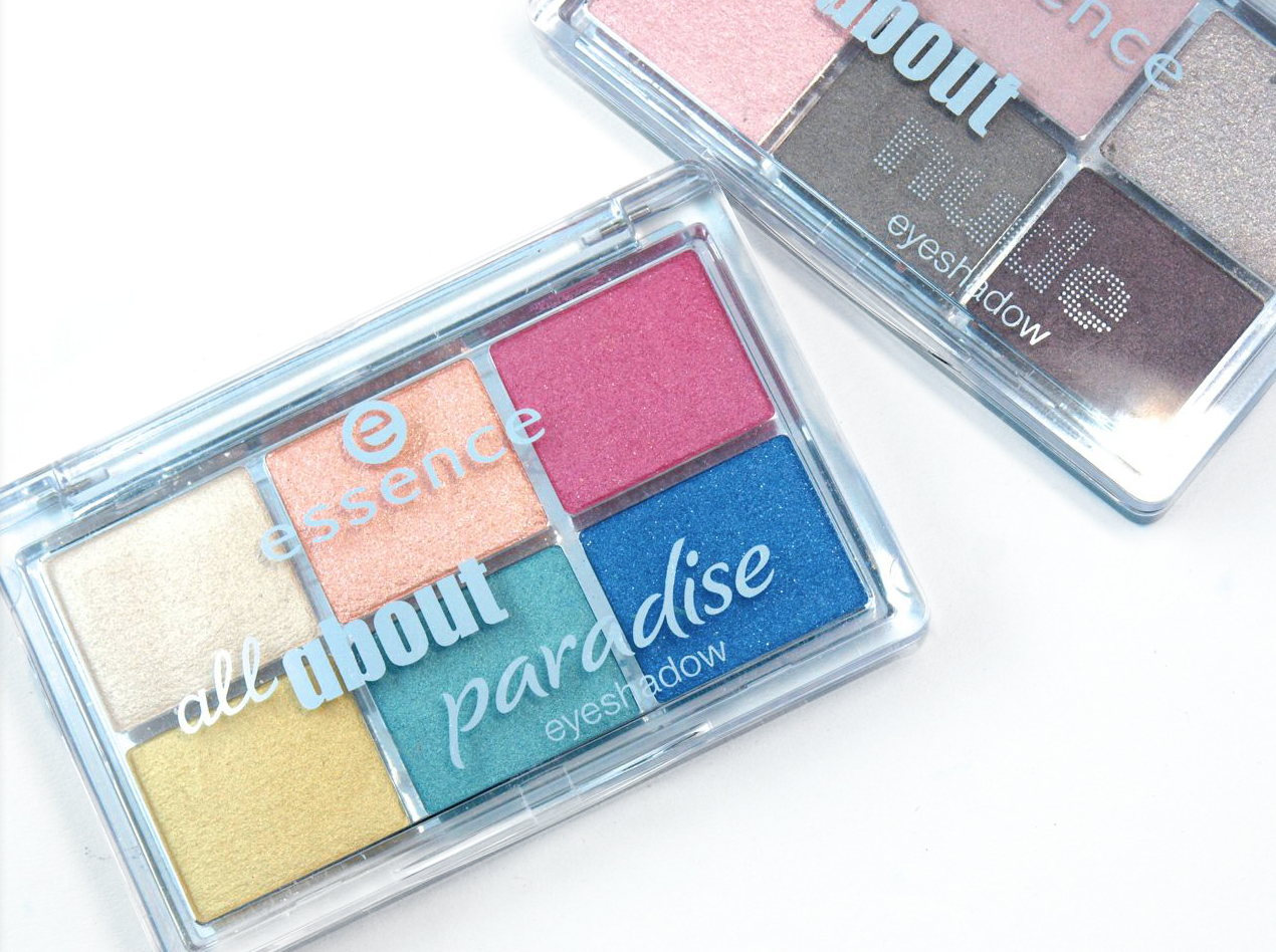 Essence All About Paradise & All About Nude Eyeshadow Palette: Review and Swatches