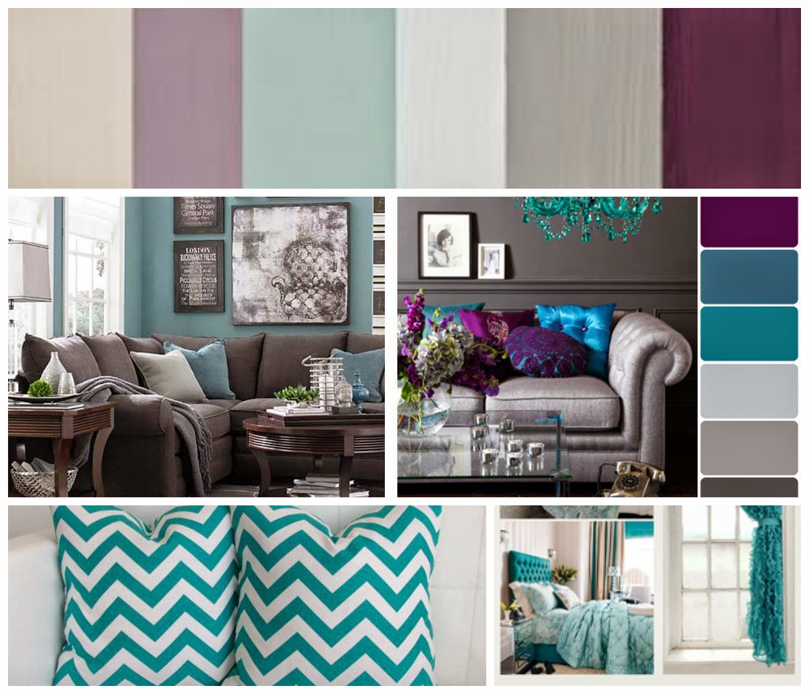 Attractive I Am Obsessed With The Gray, Teal, Purple Combo. Clearly, I Will Not Be  Painting Any Walls So We Will Deal With Light Colored Walls. Part 12