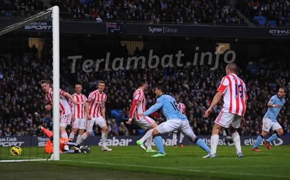 Hasil Pertandingan Manchester City VS Stoke City