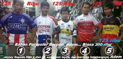 jersey sepeda 125rb