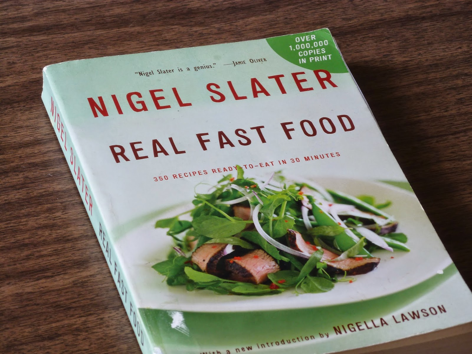 "Nigel Slater's Real Fast Food, Very few food writers are as thrilling and skilled as Nigel Slater.  I know I've mentioned him a number of times on here, but he's too good to go unmentioned this spring.  I'm getting sick of the same old things I've been cooking and looking forward to a new season and new varieties of fresh foods at the market.  The way Nigel Slater talks about making food...the passion and knowledge behind every ingredient and the willingness to ""wing-it"" now and then with whatever is in the pantry makes him my culinary hero.  These aren't just recipes, but a whole conversation about food, food choices, patience and nourishment.  If you've never read Real Fast Food or you need inspiration to cook good, real, healthy food for yourself or others, pick this up."