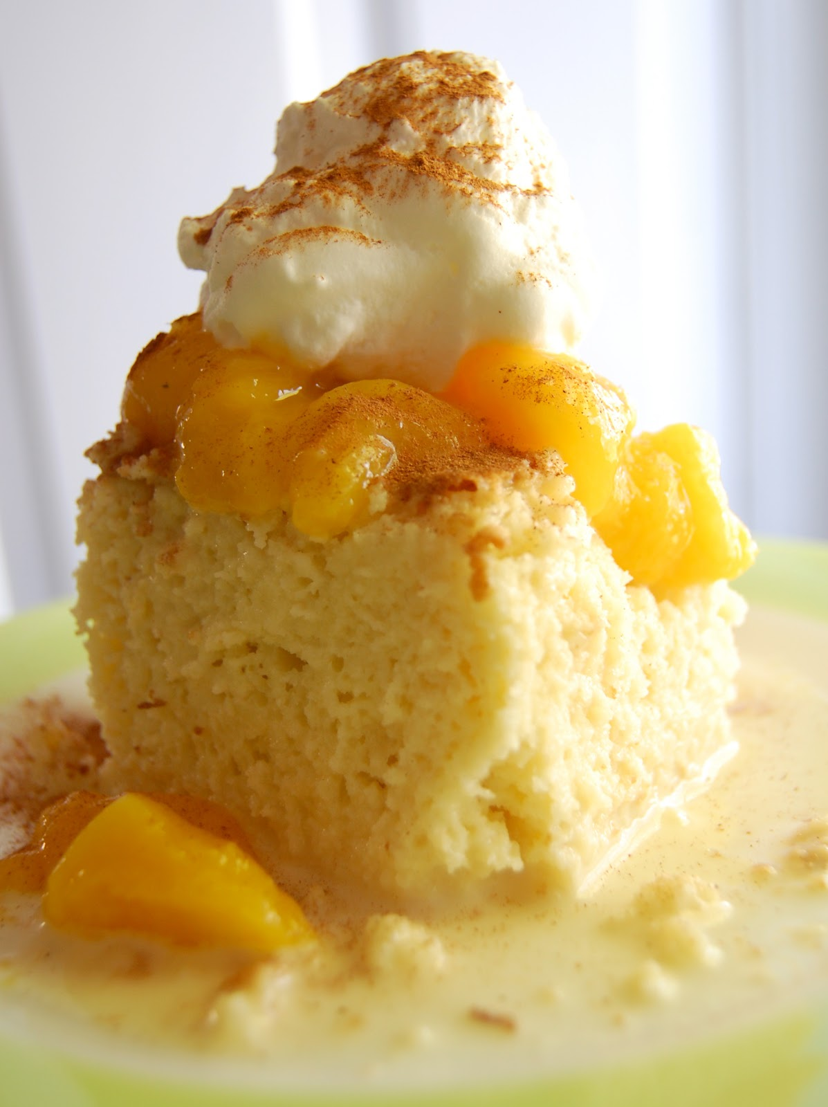 Tres Leches Cake with Mango Topping