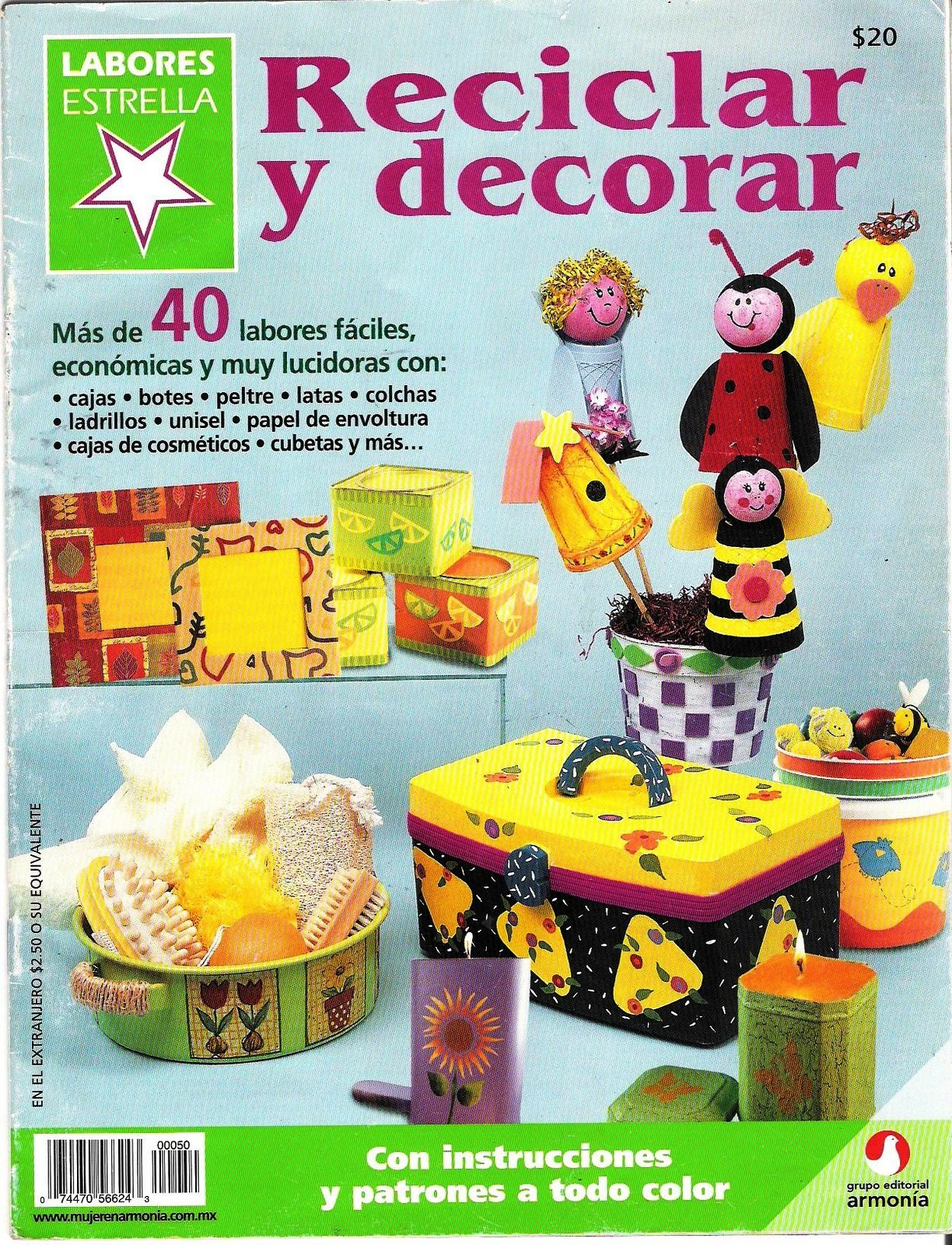 Revistas de manualidades para descargar reciclar y decorar - Reciclar para decorar ...