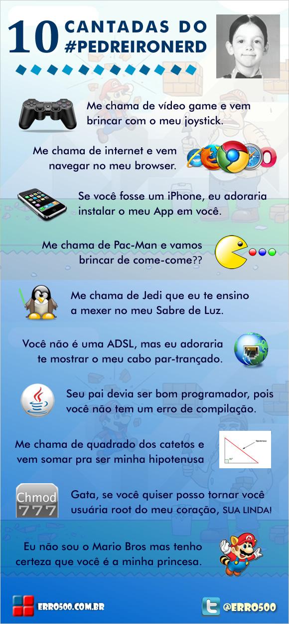 Populares 10 Cantadas do Pedreiro Nerd | Erro 500 | O Seu Blog Não-Predileto! YT46