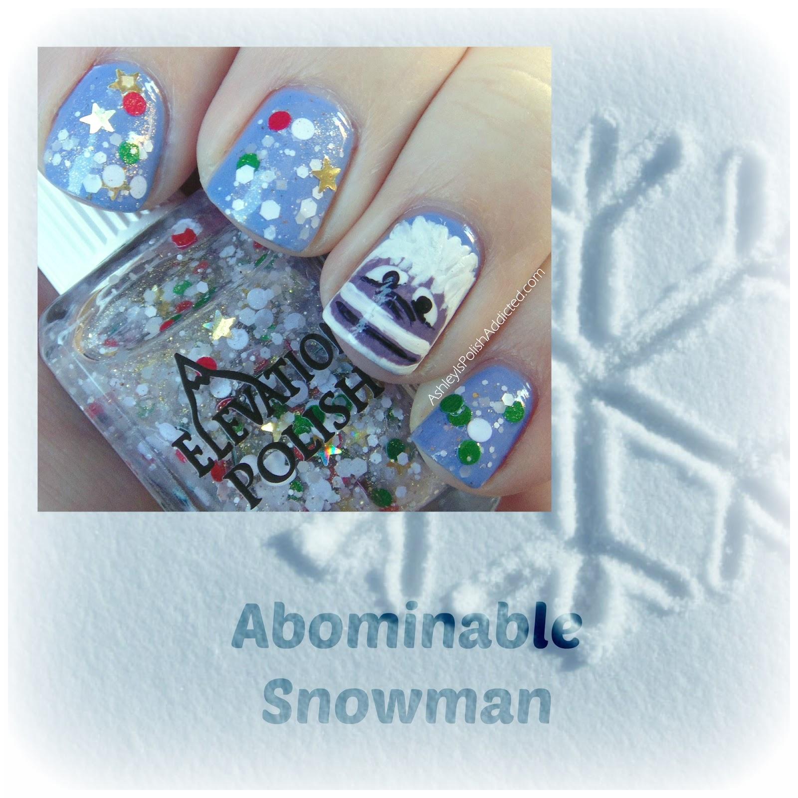 Snowman Nail Art Tutorial: Ashley Is PolishAddicted: Nail Art Theme Week: Follow A