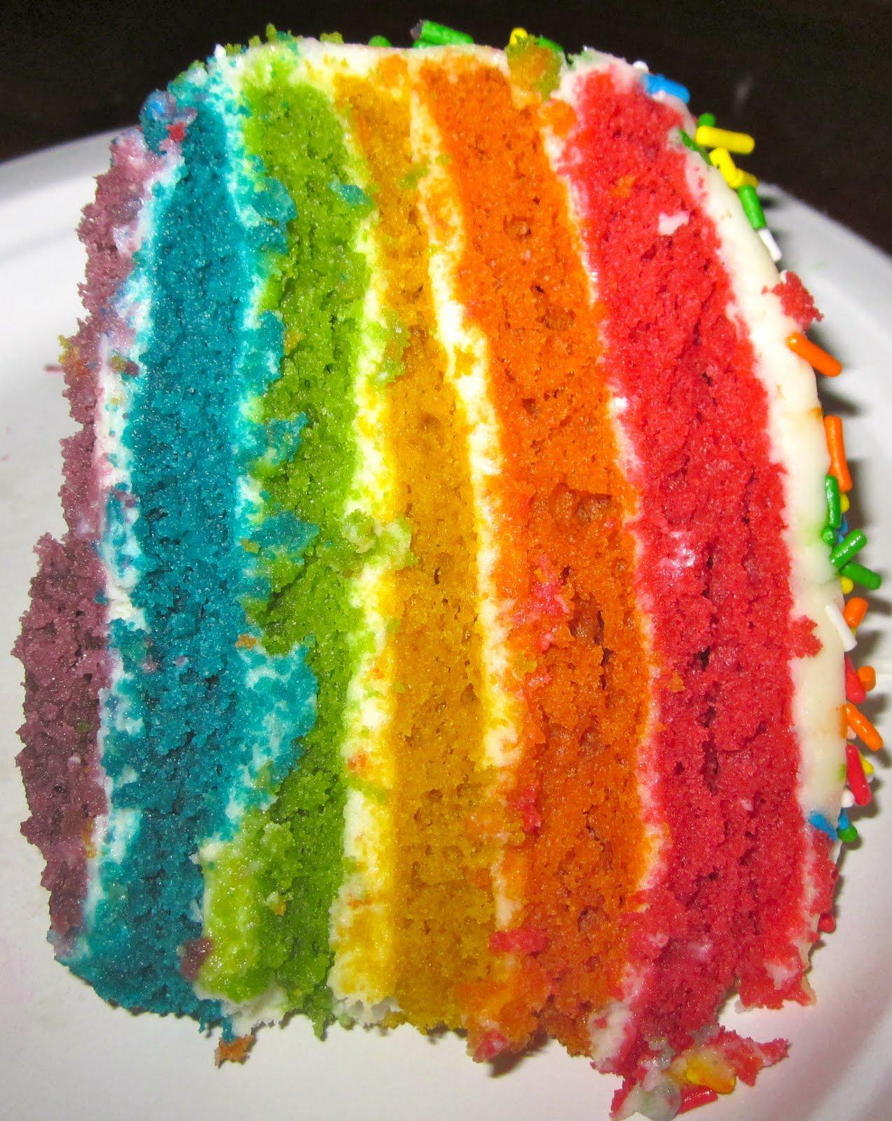 Haute Heirloom Rainbow Velvet Cake