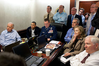 Hagel in Situation Room Photo credit Wikipedia