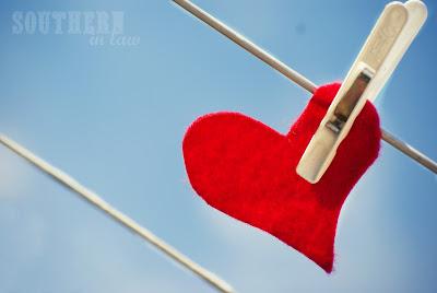 Love Heart on a Clothesline
