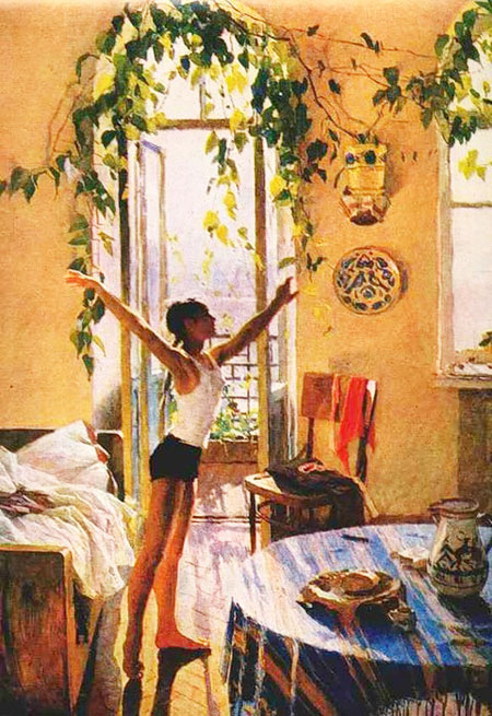 Сочинени по репродукции картины утро