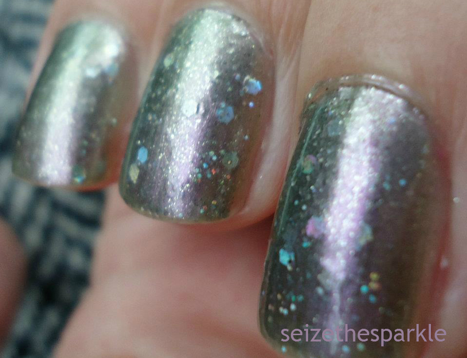 OPI Not Like the Movies Glitter Layering
