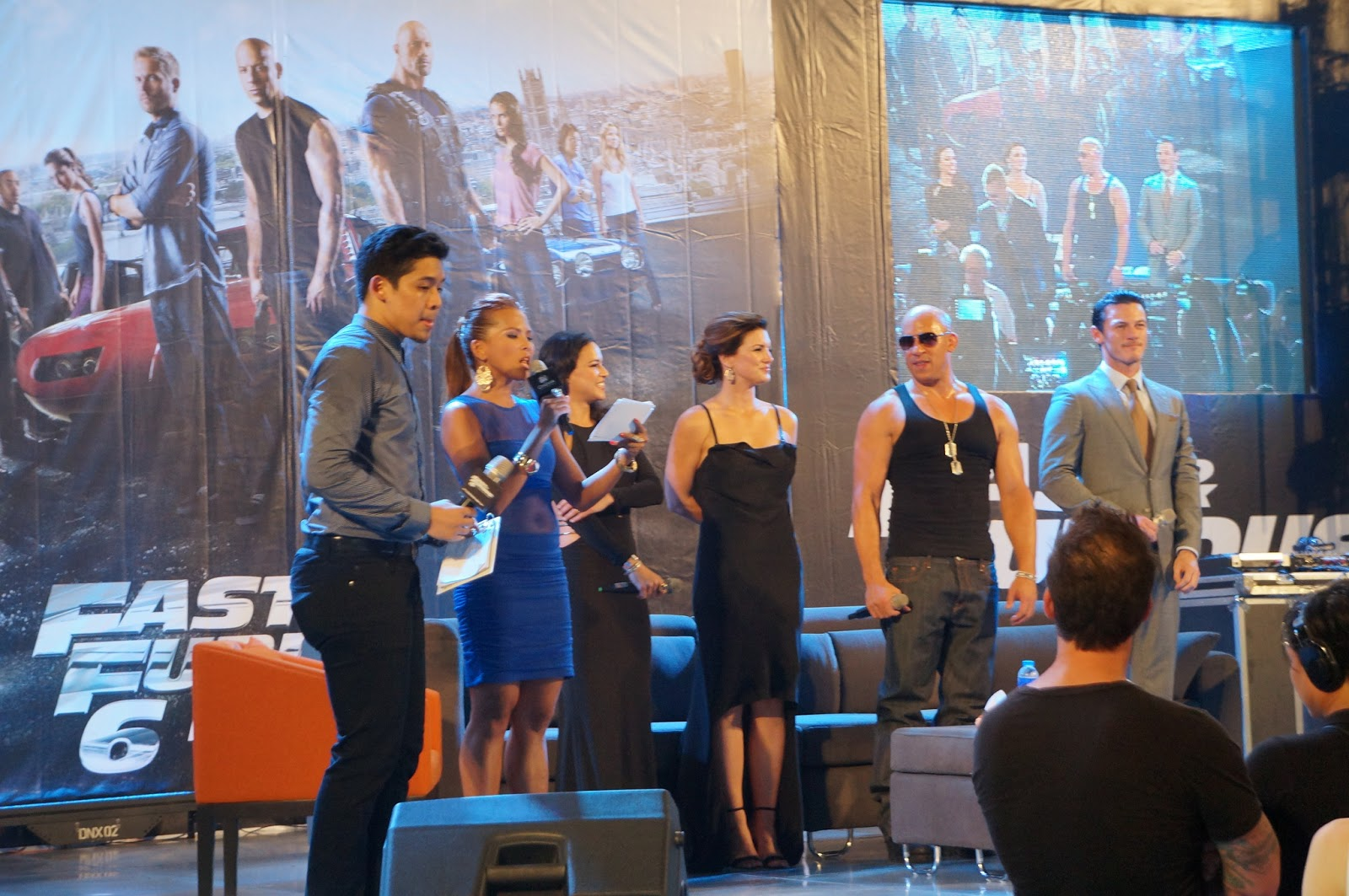 Vin diesel and other cast of fast and furious 6 graced philippine premiere at moa