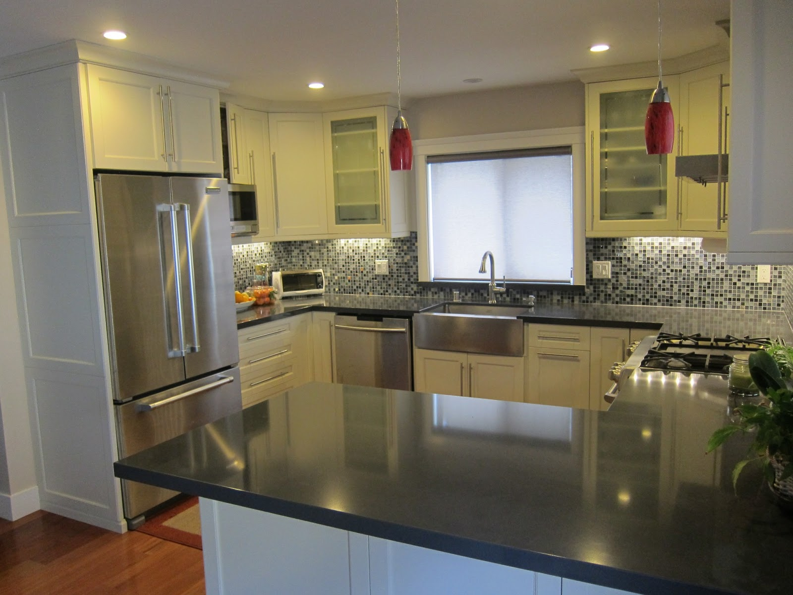 Glass Top Stove Stainless Steel Counter
