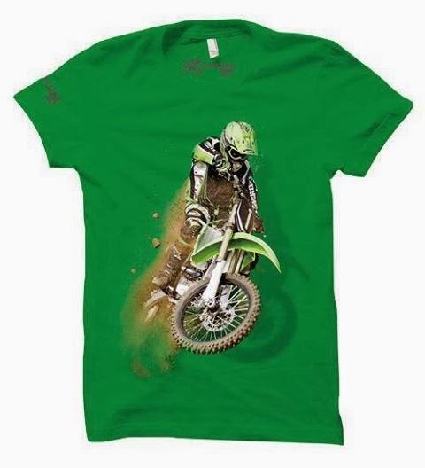 kaos 3d motox green