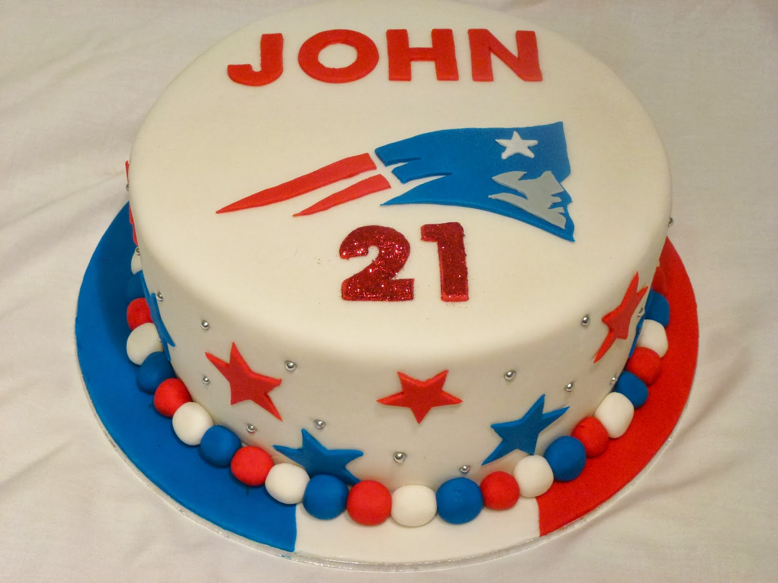 Happy Birthday New England Patriots Cake