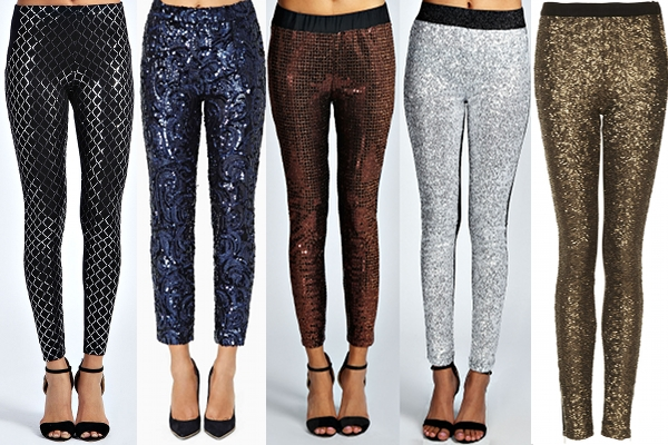 Sequin Trousers and Leggings from Boohoo and Topshop