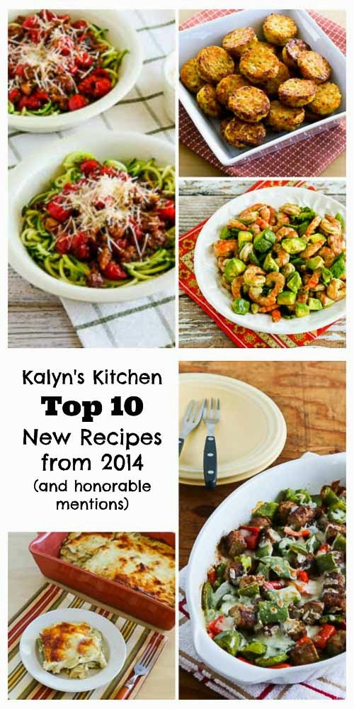 The Top Ten Best New Recipes of 2014 from Kalyn's Kitchen (and honorable mentions) found on KalynsKitchen.com
