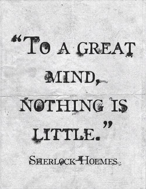 To a great mind