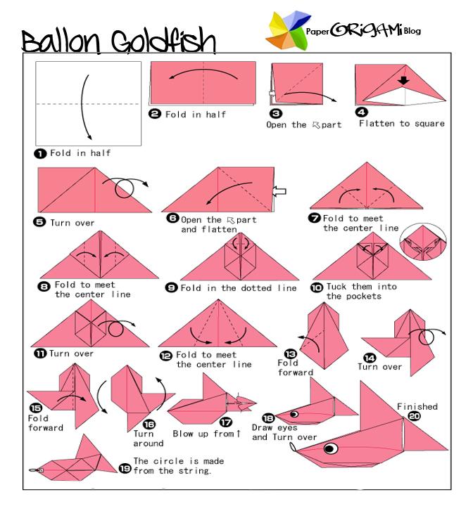 Fun Origami Ballon Goldfish
