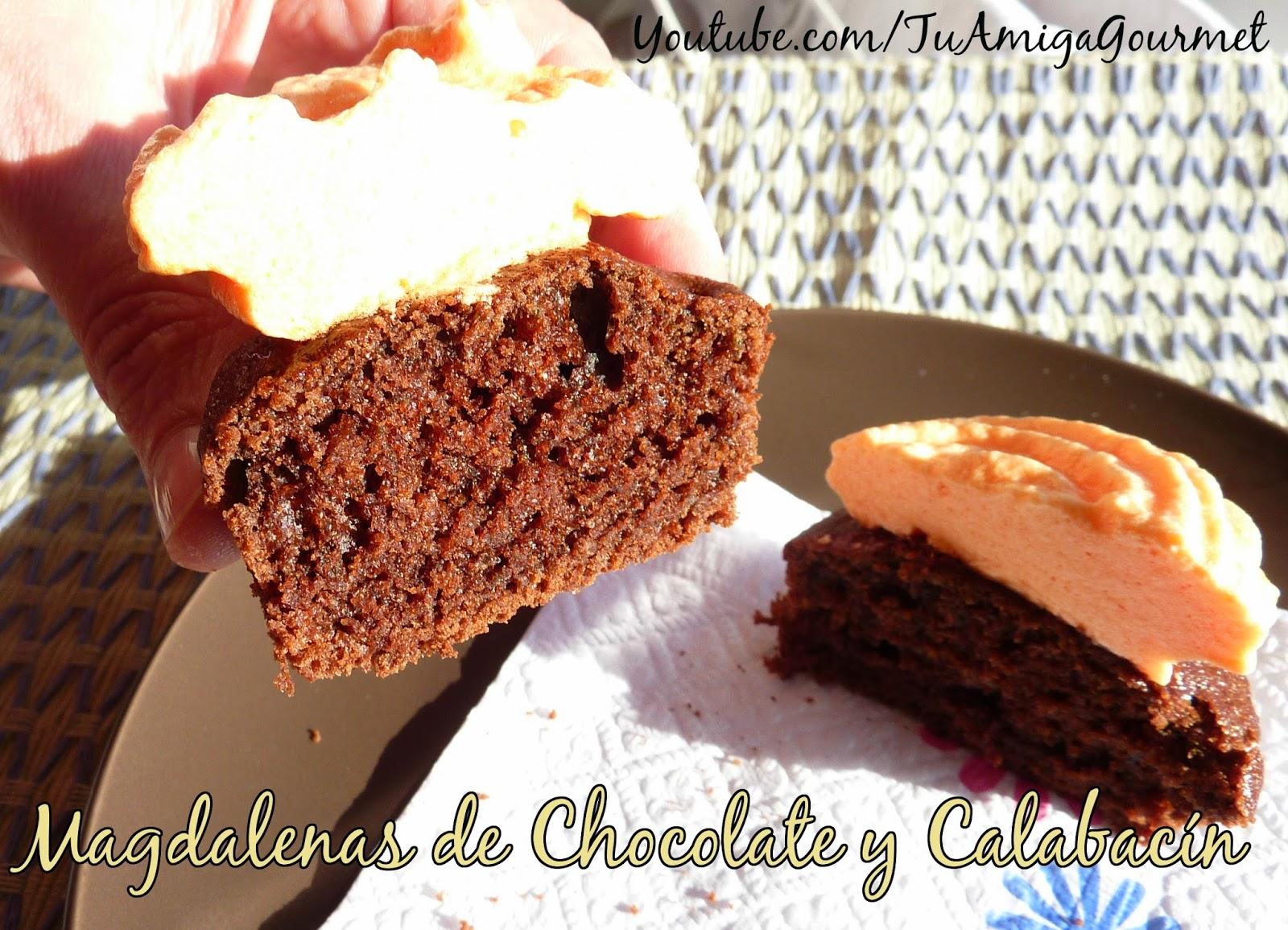 Quequitos (magdalenas, cupcakes ) de calabacín y chocolate. Receta sin gluten ni lácteos