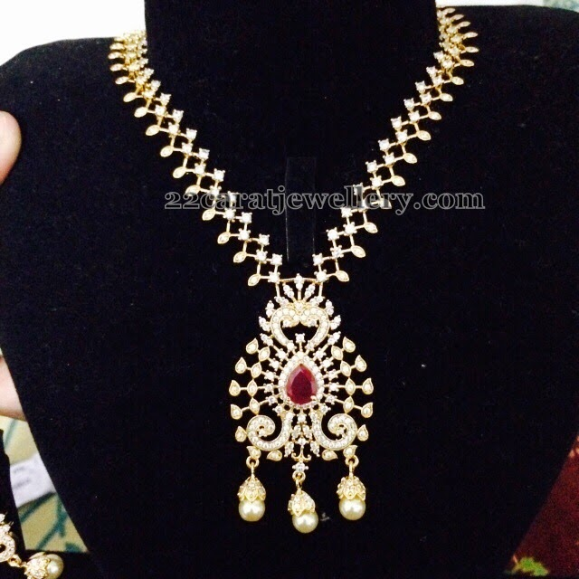 3000 Rupees 1 Gram Gold Necklaces