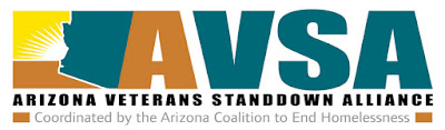 AZ Veterans StandDown Alliance logo: Coordinated by the AZ Coaltion to End Homelessness.