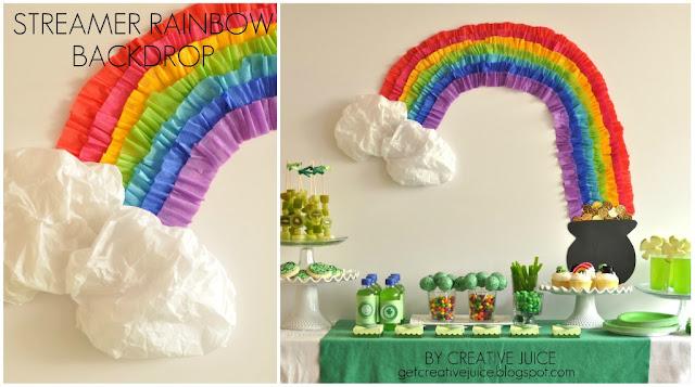 Getcreativejuice nos presenta un tutorial de como hacer este bello arcoiris  para decorar tu mesa principal.