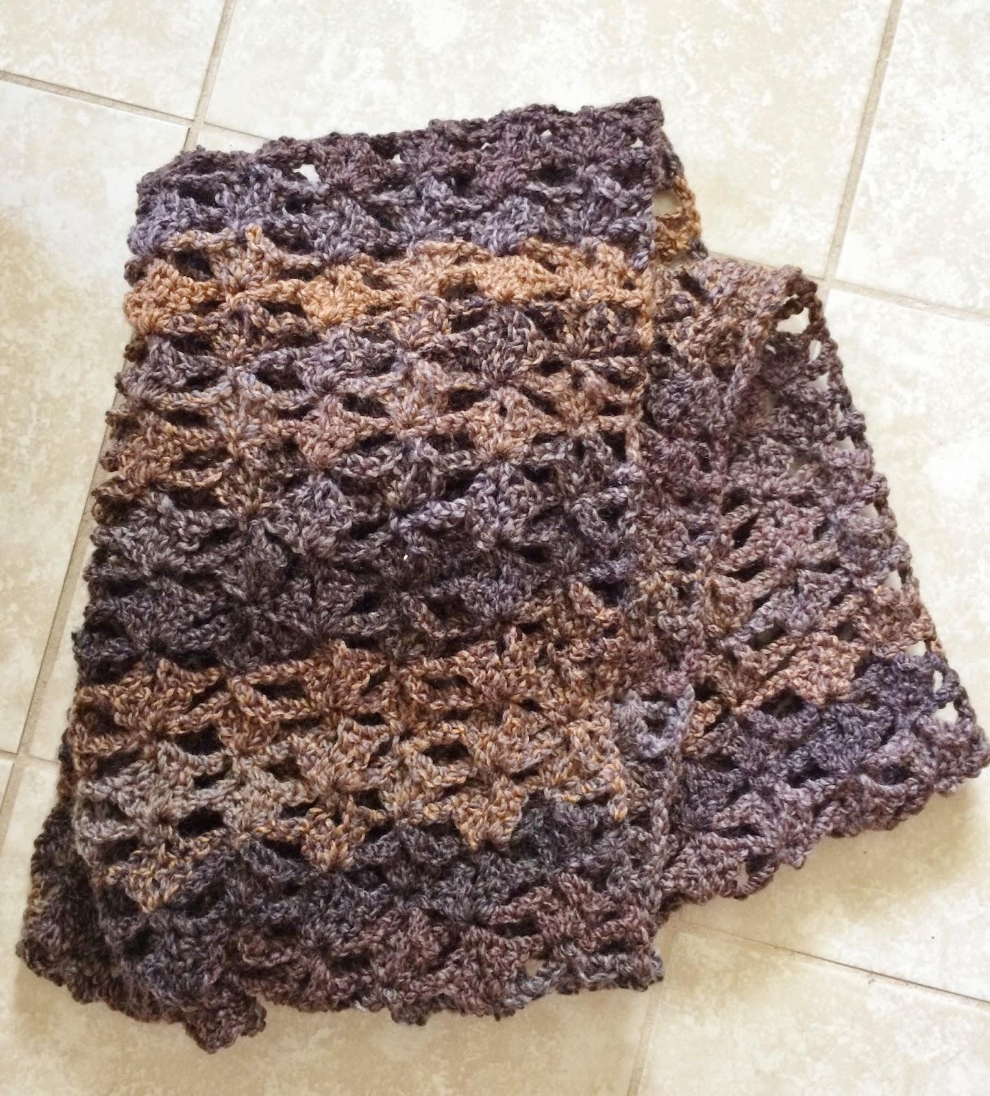 Crochet Infinity Scarf Pattern Shell : Shell Infinity Scarf - Free Crochet Pattern Not My Nana ...