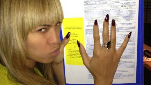 Beyoncé posta foto da cédula de votação (Foto: Reprodução/Facebook)